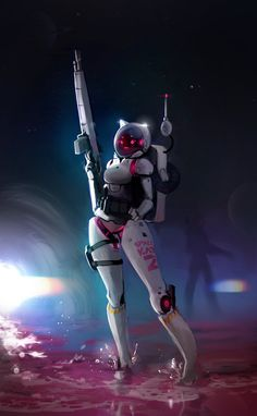 See more 'Robot Fetishism / ASFR' images on Know Your Meme! Fantasy Character Design, Character Design Inspiration, Character Concept, Character Art, Cyberpunk Girl, Arte Cyberpunk, Robots Characters, Fantasy Characters, Anime Sexy