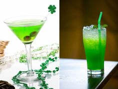 5 coqueteis para St. Patrick's Day! green cocktail