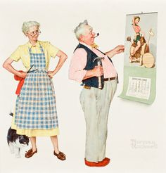 Apparently Norman Rockwell and I both think old people are cute