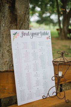 rustic escort chart for guests at the reception #weddingreception #weddingideas #weddingchicks http://www.weddingchicks.com/2014/01/24/true-love-texas-wedding