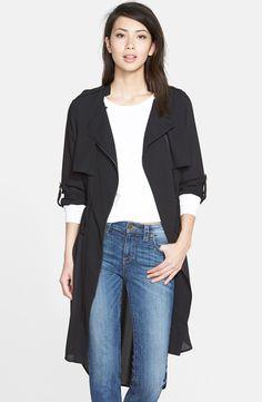 Asymmetrical Zip Long Jacket (Regular & Petite)