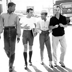 Sidney Poitier, Tony Curtis, Sammy Davis, Jr. and Jack Lemmon - old school swag!