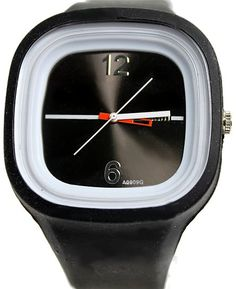 New Black Dial Weiß Uhrgehäuse-Silikon-Schwarz-Band-Jungen-Mädchen-Mode-Uhr FW729A