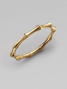 Gucci 18K Yellow Gold Small Bamboo Bangle Bracelet on shopstyle.com