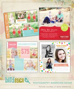 marketing boards | Photoshop templates for photographers by Birdesign