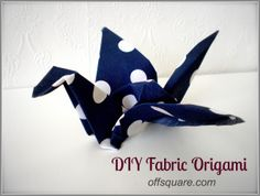 With a light coating of fabric stiffener, most fabric will feel just like card so you can work with it as you would origami paper. Origami Templates, Origami And Kirigami, Fabric Origami, Origami Paper, Box Templates, Fabric Stiffener, Fabric Ornaments, Christmas On A Budget, Ideas