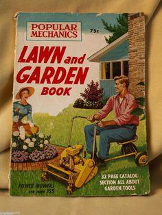 POPULAR MECHANICS LAWN GARDEN BOOK CATALOG 1957 VINTAGE ADVERTISEMENTS MAGAZINE