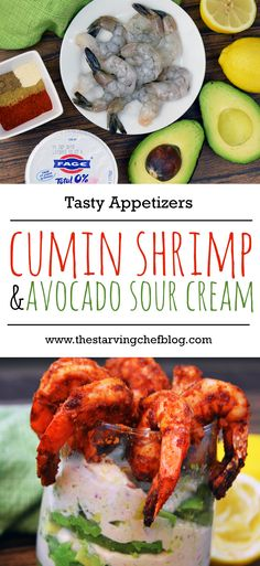 The Starving Chef | From prep to the table, this simple avocado dip and seasoned shrimp is ready in less than 15 minutes.