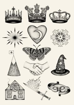Bradley Jay - Astrology/Zodiac Signs Illustrations composition of illustrations for book cover