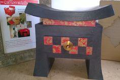 Table chevet avec un tiroir : Accessoires de maison par les-ateliers-des-cartonnistes-associes