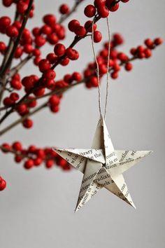 paper oragami star ornament