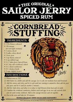 Cornbread stuffing #rum
