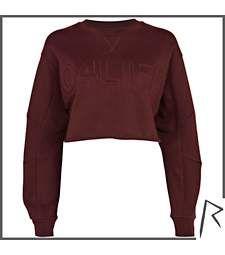 Burgundy Rihanna G4LIFE cropped sweatshirt $30.00