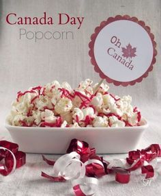 Canada Day Popcorn via How Lovely It Is Canada Day 150, Happy Canada Day, Visit Canada, Canada Day Crafts, Canada Day Party, Backpacking Canada, Canada Travel, Canadian Food, One Day