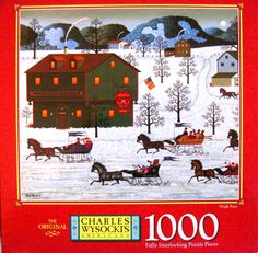 - Any Charles Wysocki folk art scene puzzles. Particularly Christmas/Winter or Halloween Scenes