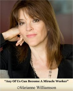 """Marianne Williamson is an internationally acclaimed spiritual author and lecturer. Six of her ten published books have been New York Times Best Sellers. Four of these have been #1 New York Times Best Sellers. A Return to Love is considered a must-read of The New Spirituality. A paragraph from that book, beginning """"Our deepest fear is not that we are inadequate. Our deepest fear is that we are powerful beyond measure..."""" is considered an anthem for a contemporary generation of seekers."""