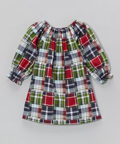 Red & Blue Plaid Peasant Top - Infant, Toddler & Girls by Smockadot Kids #zulily #zulilyfinds