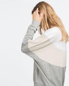 c3c08aa2 COMBINATION SWEATSHIRT Zara, Casual, Sweatshirts, Sweaters, Dresses, Style,  Knitwear,