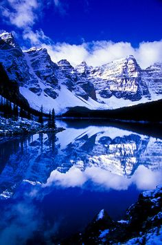 The Wenkchemna Peaks and Moraine Lake, Banff National Park, Alberta