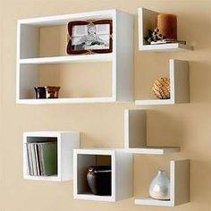 66 Trendy Home Library Corner Interior Design Wall Storage Shelves, Wall Shelves Design, Bookshelf Design, Pallet Shelves, Shelving, Box Shelves, White Shelves, Display Shelves, Wall Design