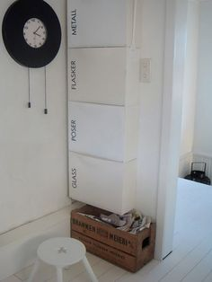 Ikea hack: trones para reciclar. Like the idea for the utility space