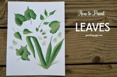 Leaves are an important part of painting flowers, so this little post and video on how to paint leaves will help you get the basics down on how to paint many types. I don't try to make them a…