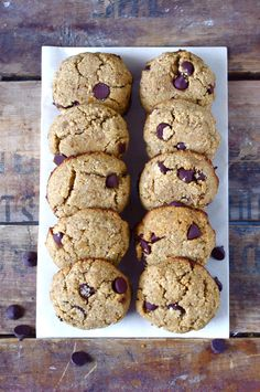 Soft & Chewy Coconut Flour Chocolate Chip Cookies (Gluten Free!) ...and Fave Five Friday: Healthy Mother's Day Eats