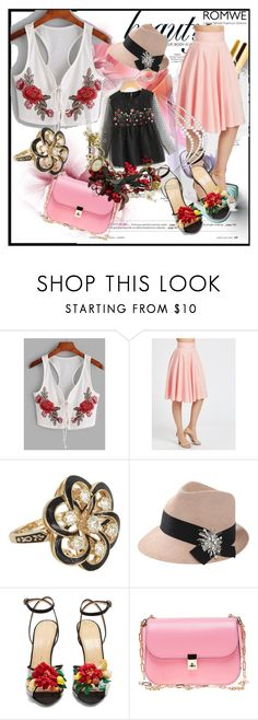 """Bez naslova #152"" by ajisa-ikanovic ❤ liked on Polyvore featuring Vintage, Brunello Cucinelli, Charlotte Olympia, Valentino and Polaroid"