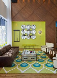 Saint Hotel - brights and neutrals make for a great color pallet
