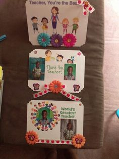 Decorative Teachers cards