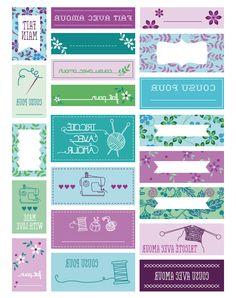 Printable Labels, Printable Cards, Party Printables, Free Printables, Diy Pour La Rentrée, Etiquette Thermocollante, Couture Sewing, Cute Crafts, Filofax