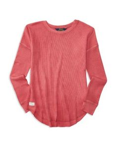 Ralph Lauren Childrenswear Girls' Waffle Top - Sizes 2-6X | Bloomingdale's