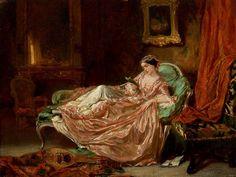 Victor Joseph Chavet (1822-1906) —   Woman Reading, 1848 (1024x768)