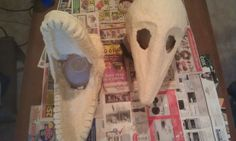 Barbara and Adam Maitland masks