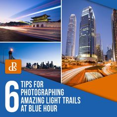 6 Tips for Photographing Amazing Light Trails at Blue Hour (Digital Photography School) Light Trail Photography, Exposure Photography, Night Photography, Family Photography, Photography Tips, Two Way Street, Water Effect, Exposure Time, Light Trails