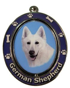 "German Shepherd, White Key Chain ""Spinning Pet Key Chains""Double Sided Spinning Center With German Shepherds Face Made Of Heavy Quality Metal Unique Stylish German Shepherd Gifts ** See this awesome image @ German Shepherd Dogs, German Shepherds, Dog Shower, Dog Bones, Dog Id Tags, Cat Memorial, Dog Diapers, Dog Travel, Dog Barking"