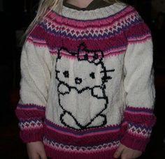 Hello Kitty genser Christmas Sweaters, Hello Kitty, Fashion, Moda, Fashion Styles, Christmas Jumper Dress, Fashion Illustrations, Tacky Sweater