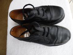 John Fluevog Heavenly Angels Black Swirl Shoes Unisex Mens sz 5-1/2 womens 7-1/2 #JohnFluevog #CasualShoes