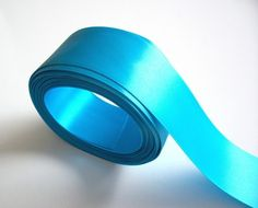 Peacock blue doublefaced satin ribbon 1 1/2 by GriffithGardens, $3.25