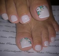 Ideas for fails design 2018 toe Pedicure Designs, Pedicure Nail Art, Toe Nail Designs, Nail Manicure, Toe Nail Color, Toe Nail Art, Nail Colors, Pretty Toe Nails, Cute Toe Nails