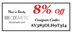 Save 8% shopping for Korean cosmetics on BB Cosmetic by using the coupon code AV585OLH9T3I4