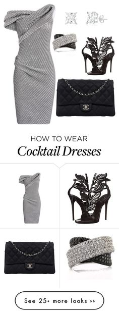 """""""My First Polyvore Outfit"""" by hakiawylie on Polyvore featuring Maticevski, Giuseppe Zanotti, Chanel and Mark Broumand"""