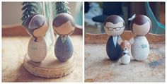 Cute wedding toppers!