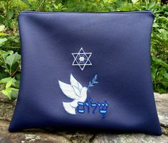 Hand Made Tallit Bag - Leather Like Shalom Peace Bag - 8 Colors  #mitzvah #gift #jewish #judaica #israel #holyland