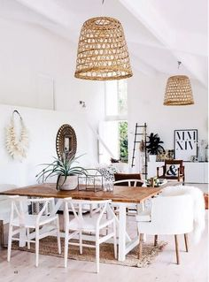 Scandinavian Dining Room Design: Ideas & Inspiration - Di Home Design Dining Room Inspiration, Interior Inspiration, Design Inspiration, Interior Ideas, Interior Colors, Interior Styling, Coastal Living Rooms, Coastal Cottage, Romantic Cottage