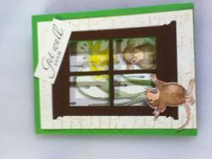 Gentle rain house mouse stamp