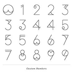 numbers #typography                                                                                                                                                                                 More