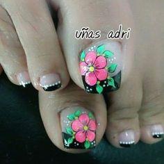 Toenail Art Designs, Pedicure Designs, Pedicure Nail Art, Toe Nail Art, Manicure, Pretty Toe Nails, Cute Toe Nails, Diy Nails, Feet Nail Design