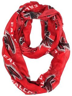 Officially licensed Atlanta Falcons infinity scarf Made from a sheer fabric Printed with your favorite team's logo Lightweight scarf can be worn in multiple fashion-friendly ways Made by Little Earth We Wear, How To Wear, Lightweight Scarf, Atlanta Falcons, Sheer Fabrics, Red And Grey, Scarf Styles, Team Logo, 1 Piece