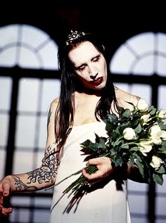 Marilyn Manson as Bride Marilyn Manson, Guys My Age, Brian Warner, Charles Manson, Into The Fire, The Villain, Hard Rock, Heavy Metal, Beautiful People